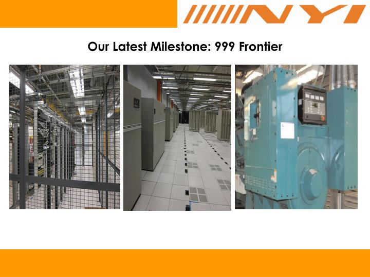 Our Latest Milestone: 999 Frontier