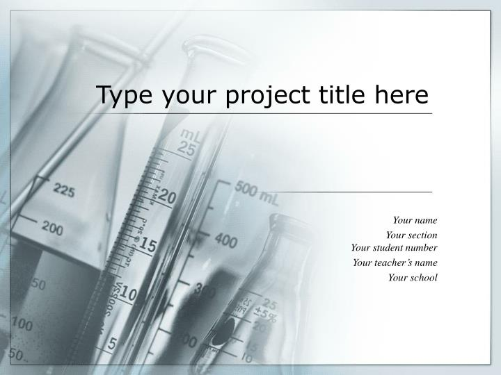 type your project title here n.
