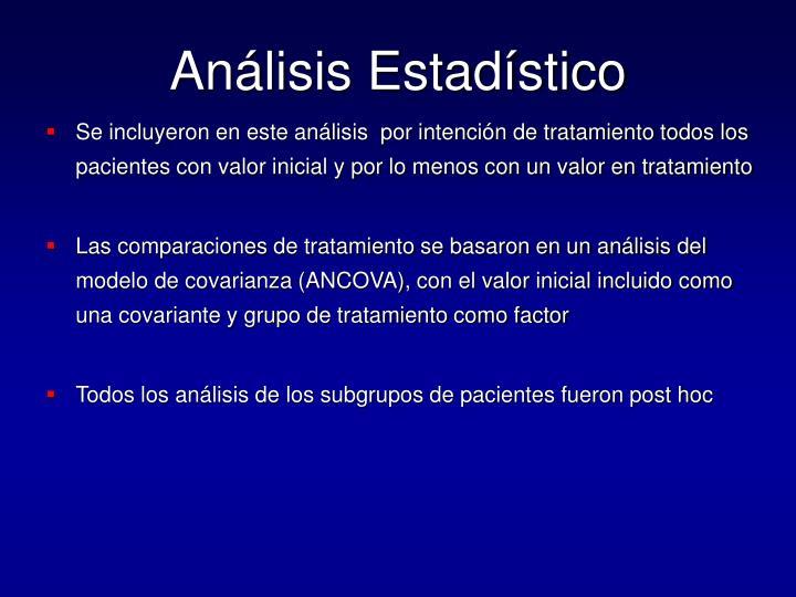 Análisis Estadístico
