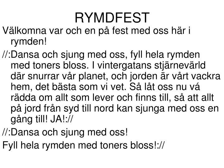 RYMDFEST