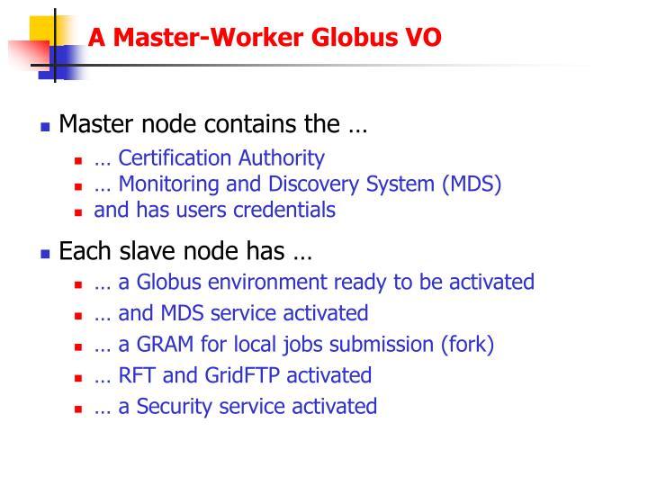 A Master-Worker Globus VO