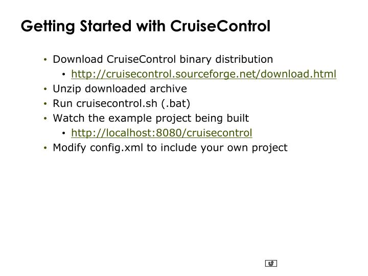 Getting Started with CruiseControl