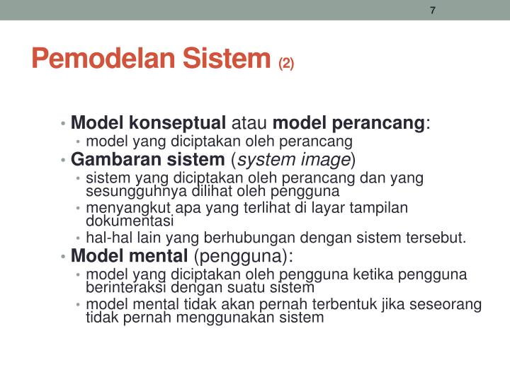 Pemodelan Sistem