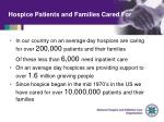 hospice patients and families cared for