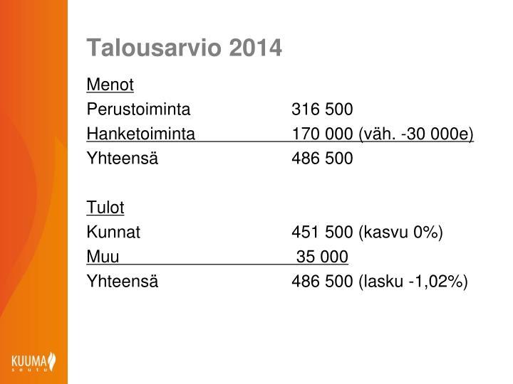 Talousarvio 2014