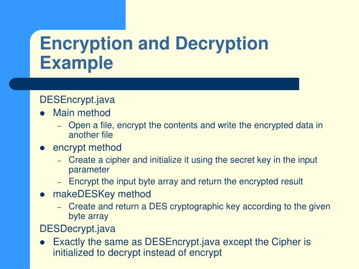 Encryption and Decryption Example