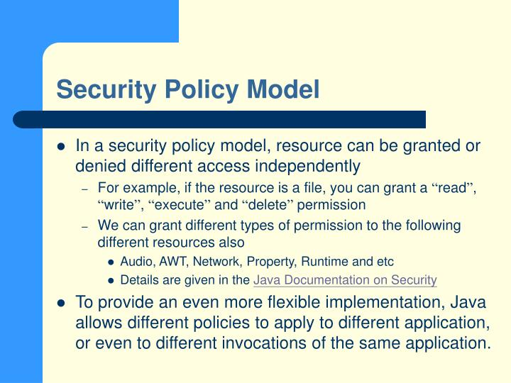 Security Policy Model