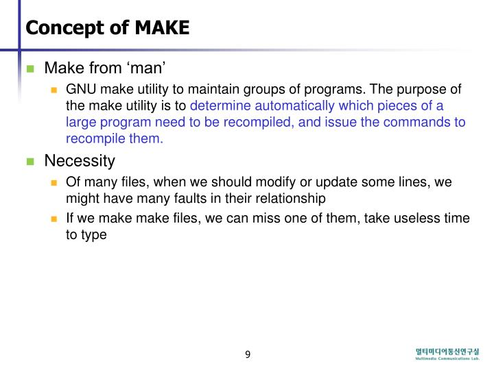Concept of MAKE