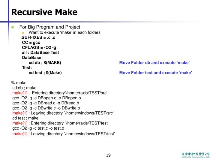 Recursive Make