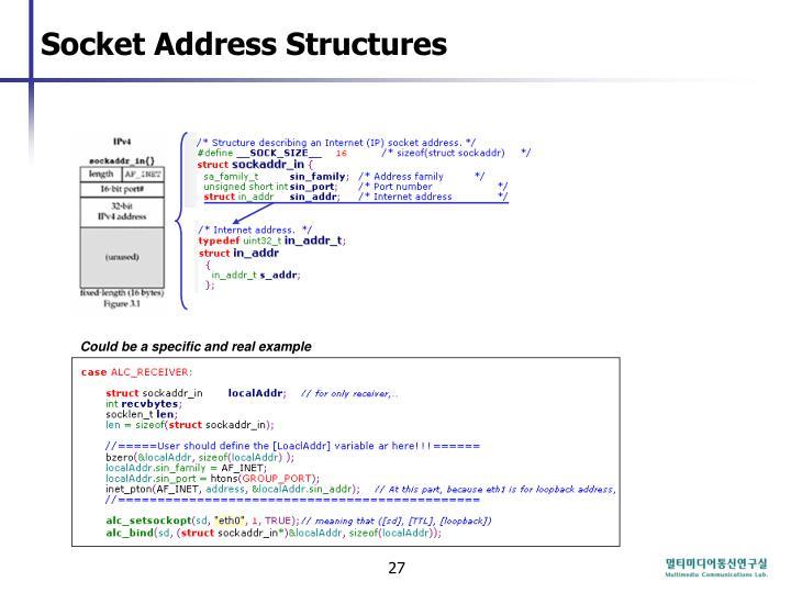Socket Address Structures