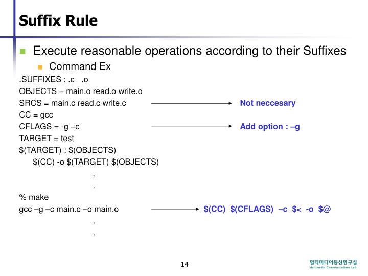 Suffix Rule