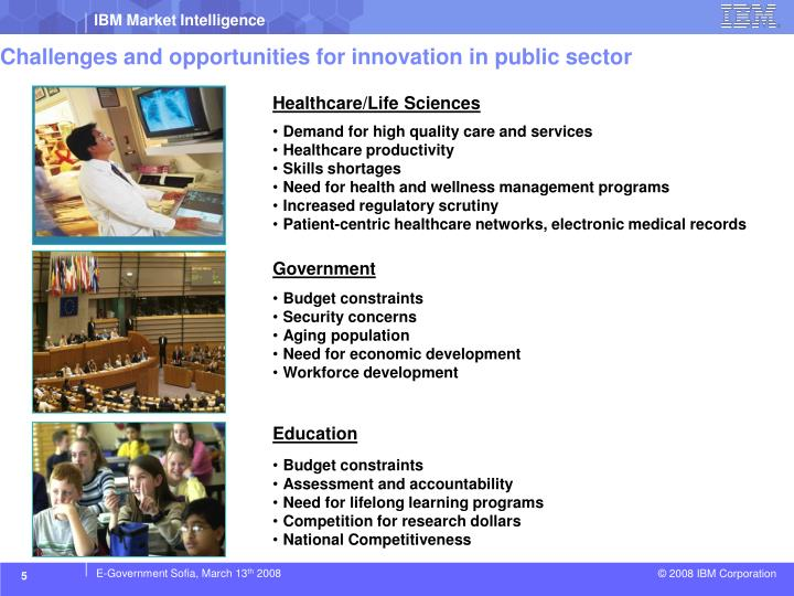 Challenges and opportunities for innovation in public sector