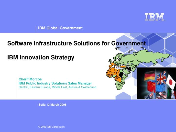 Software infrastructure solutions for government ibm innovation strategy