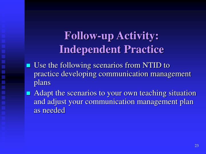 Follow-up Activity: