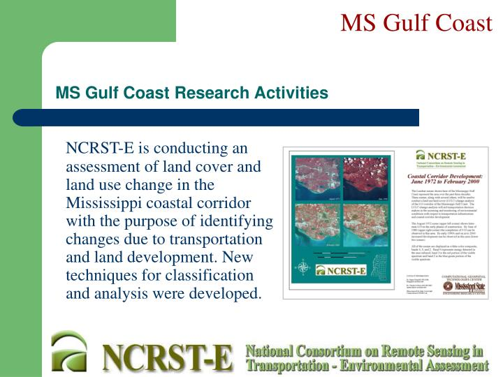 Ms gulf coast research activities