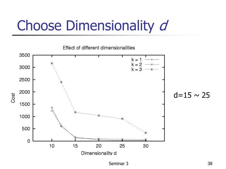 Choose Dimensionality