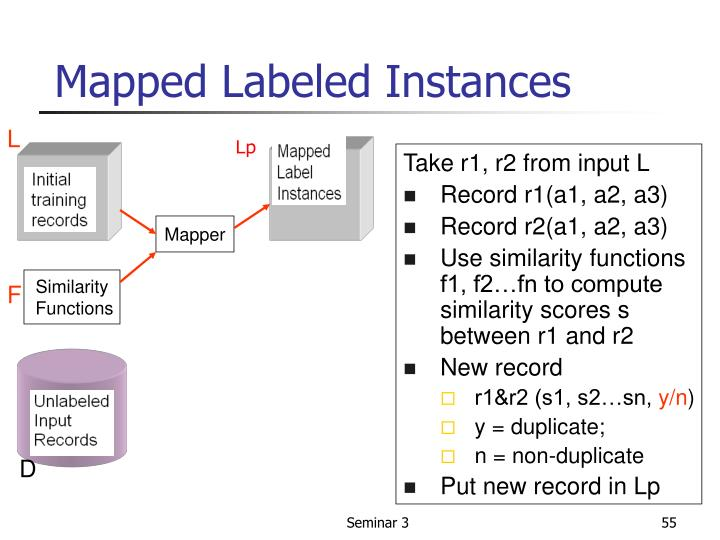 Mapped Labeled Instances