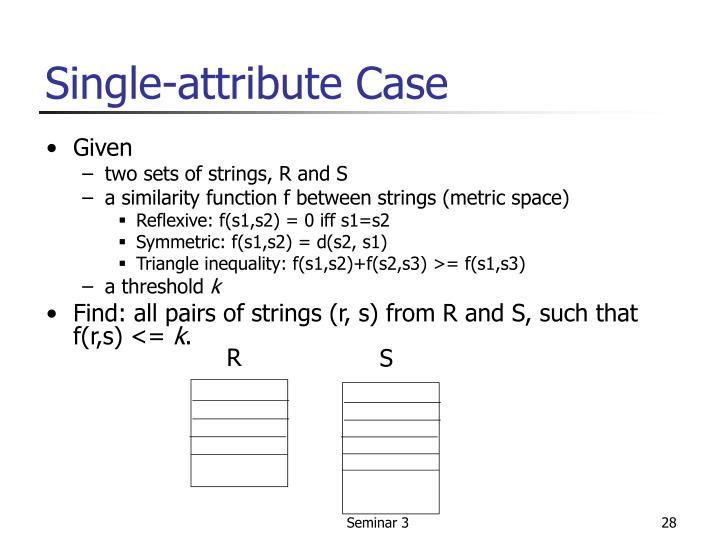 Single-attribute Case