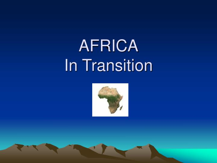 africa in transition n.
