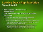 locking down app execution trusted model