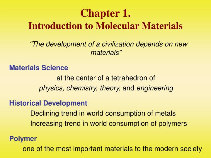 chapter 1 introduction to molecular materials