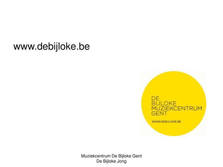 www.debijloke.be