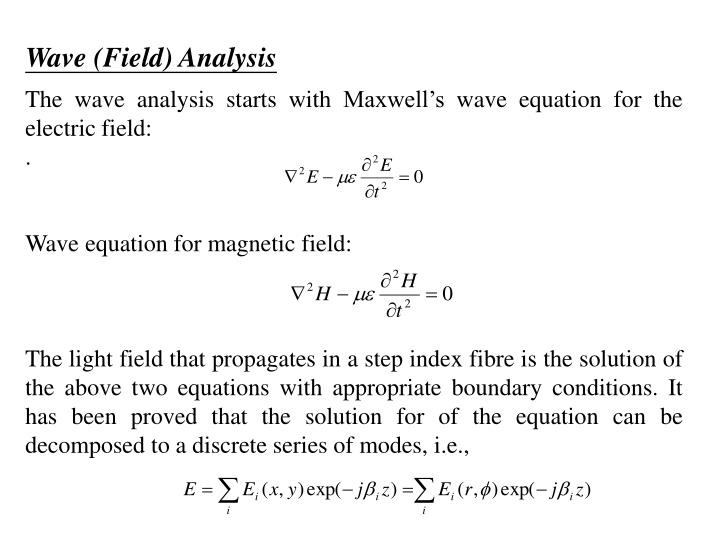 Wave (Field) Analysis