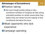 advantages of incumbency1