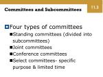 committees and subcommittees