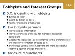 lobbyists and interest groups