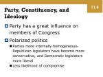 party constituency and ideology