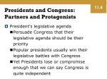 presidents and congress partners and protagonists