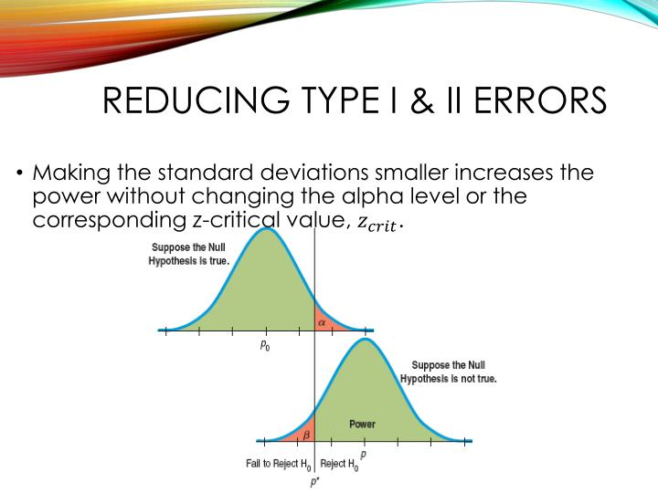 Reducing Type I & II errors
