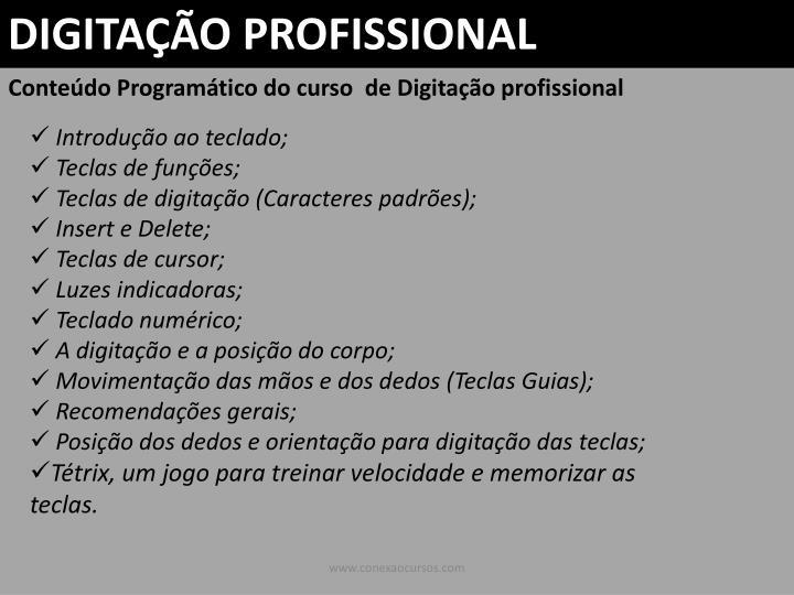 DIGITAÇÃO PROFISSIONAL