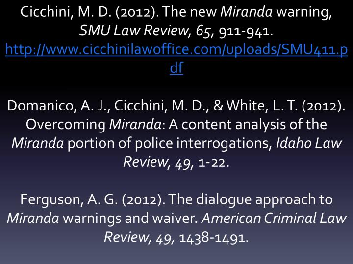 Cicchini, M. D. (2012). The new