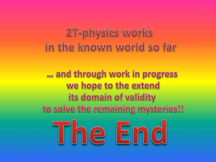 2T-physics works