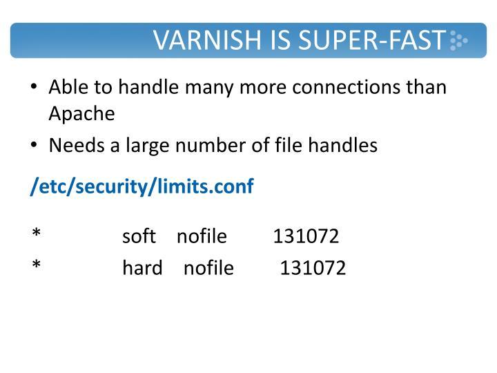 Varnish is
