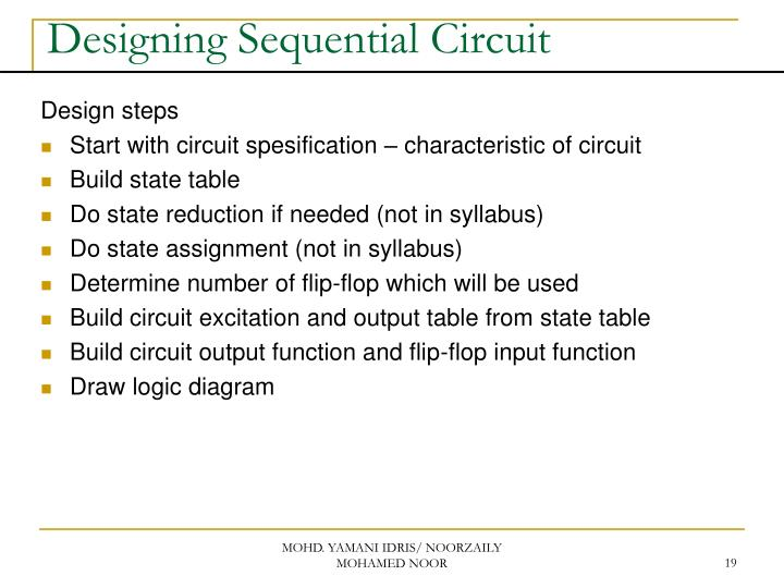 Build Sequential Circuit From Next State Equation