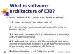 what is software architecture of ejb