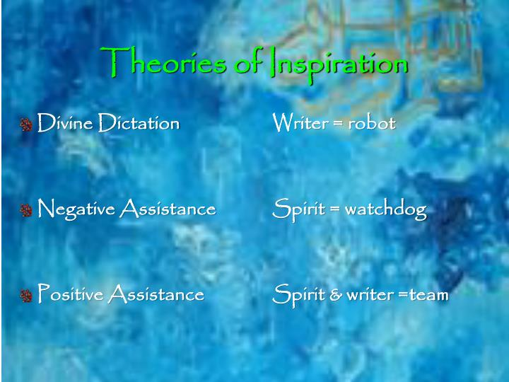Theories of Inspiration