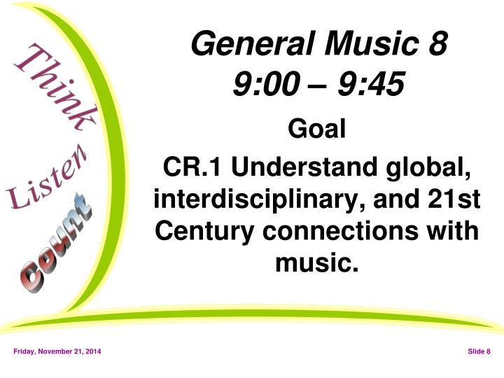 General Music 8