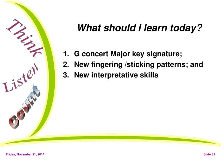 What should I learn today?