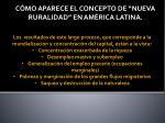c mo aparece el concepto de nueva ruralidad en am rica latina8
