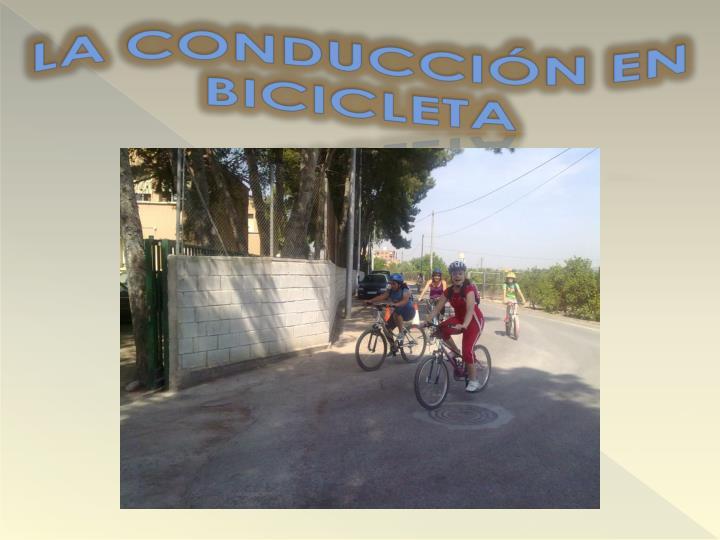 La conducci n en bicicleta