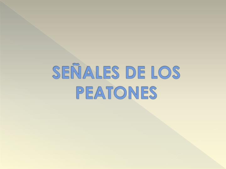 SEÑALES DE LOS PEATONES