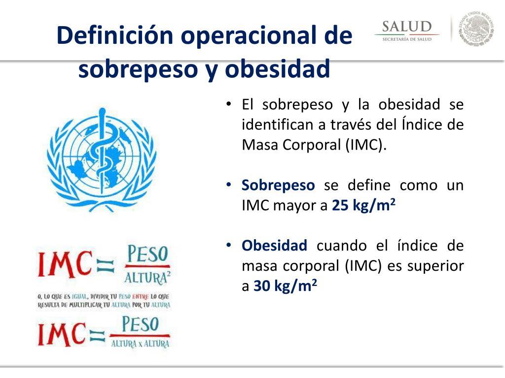 definicion operacional de indice de masa corporal