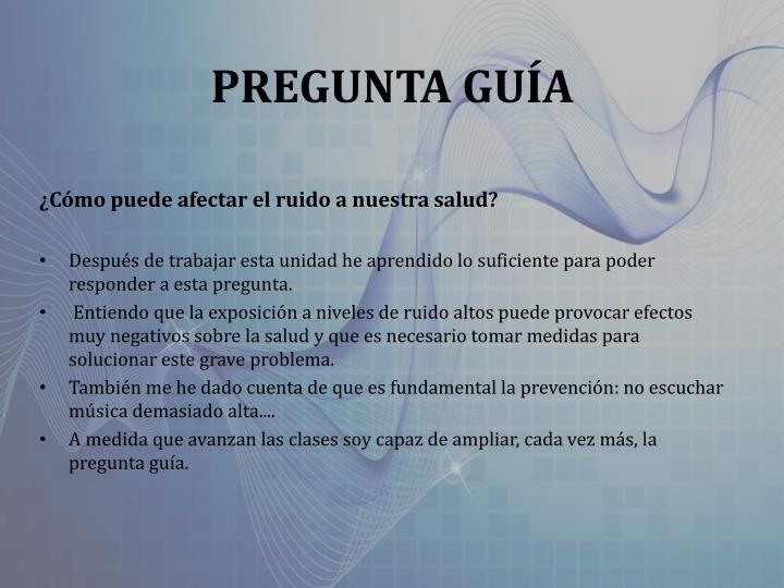 PREGUNTA GUÍA