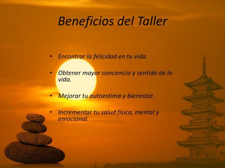 Beneficios del Taller