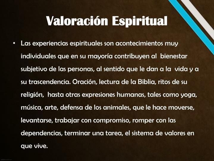 Valoración Espiritual