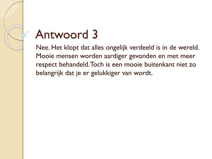 Antwoord 3